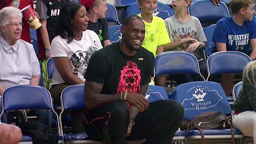 Video: LeBron James Cheers On His Son at AAU Tournament