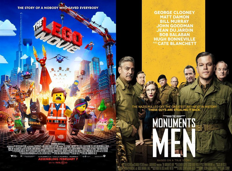 'Lego Movie' Tops Box Office With $69M, 'Monuments Men' Follows With $22M