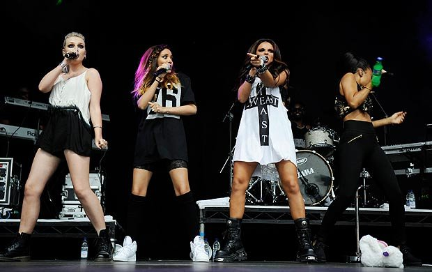 Video: Little Mix's Leigh-Anne Pinnock Hit by a Bottle During Performance