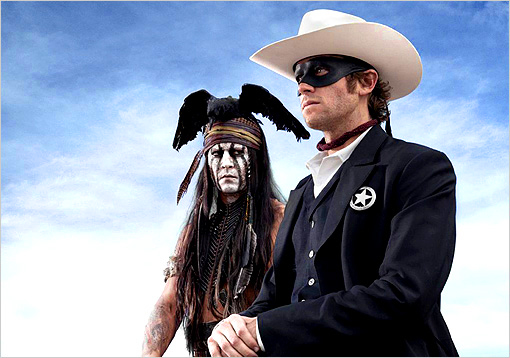 First Look of Johnny Depp and Armie Hammer in 'Lone Ranger'