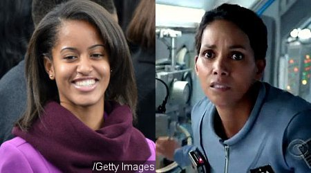 Malia Obama Spends a Day Working on Set of Halle Berry's 'Extant'