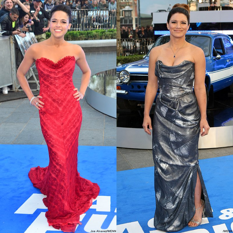 Michelle Rodriguez and Gina Carano Glam Up 'Fast and Furious 6' World Premiere