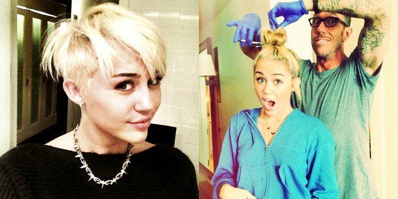 Miley Cyrus Chops Off Her Hair, Shows Off Boyish Look