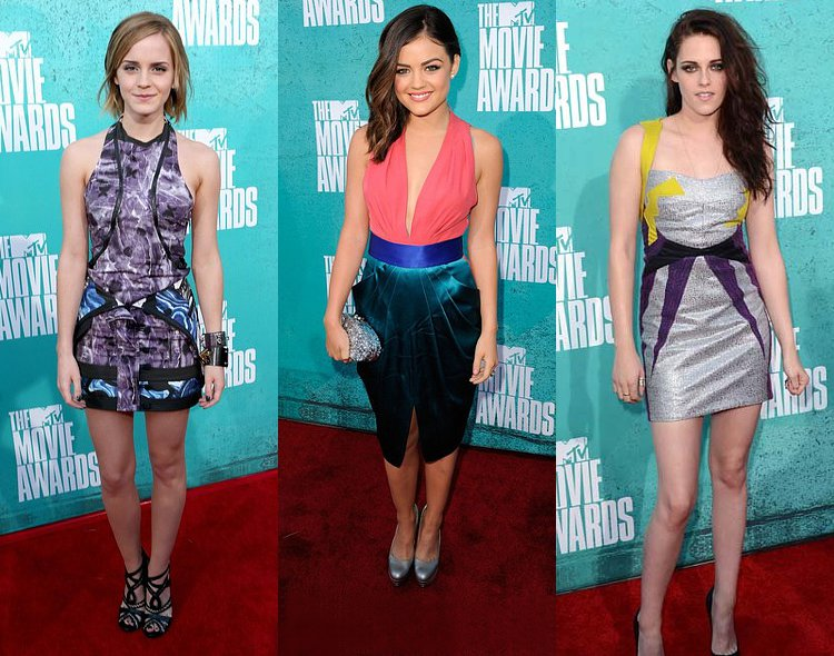 MTV Movie Awards 2012: Young and Fresh Emma Watson, Lucy Hale and Kristen Stewart on Red Carpet