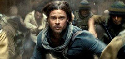 Brad Pitt saves the world from zombie attack in 'World War Z'