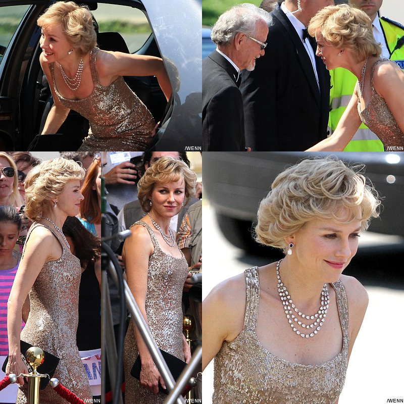 First Photos: Naomi Watts Looks Stunning as Princess Diana on 'Caught in Flight' Set