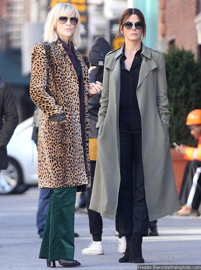Here's the First Look at Cate Blanchett and Sandra Bullock on 'Ocean's Eight' Set