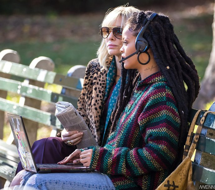 Rihanna Is a Computer Whiz in 'Ocean's Eight' On-Set Pics