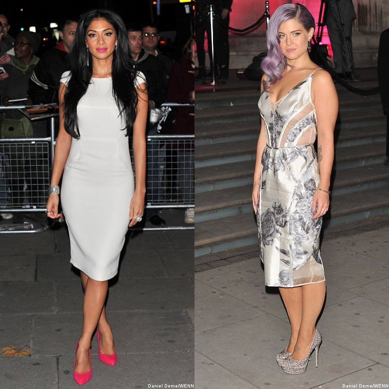 Nicole Scherzinger and Kelly Osbourne at Cosmopolitan Women of the Year Awards