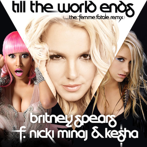 Official Cover Art of Britney Spears' 'Till the World Ends' Remix
