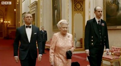 Olympic Games 2012 Opening Ceremony: James Bond, Lord Voldemort and Mr. Bean