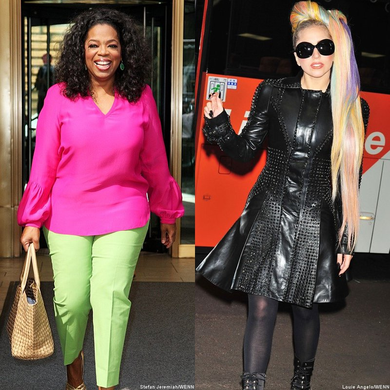 Oprah Winfrey and Lady GaGa Among World's 100 Most Powerful Women 2012