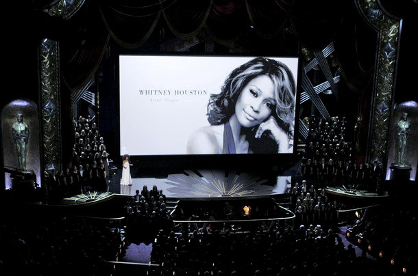 Oscars 2012: Whitney Houston Remembered  During 'In Memorian' Section