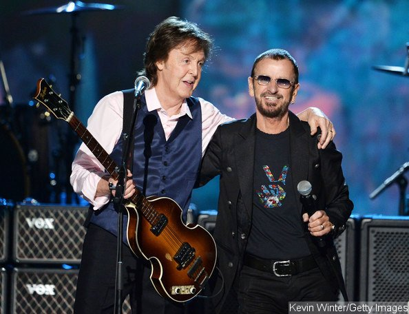 Paul McCartney and Ringo Starr Reunite for CBS' The Beatles Tribute