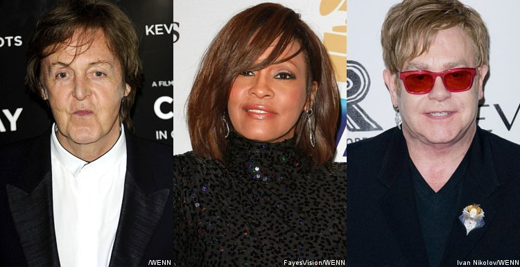 Paul McCartney, Whitney Houston, Elton John Among Legends to Enter Grammy Hall of Fame