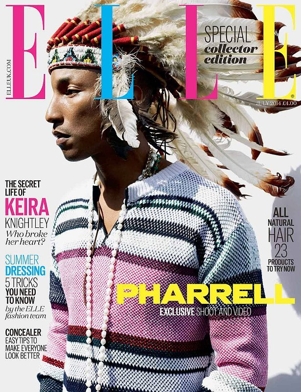 Pharrell Williams Angers Fans After Sporting Indian Headgear on Magazine Cover