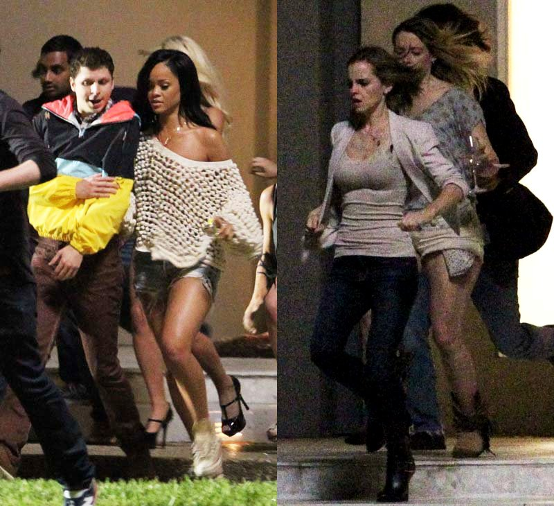 First Photo of Rihanna and Emma Watson on the Set of 'The End of the World'