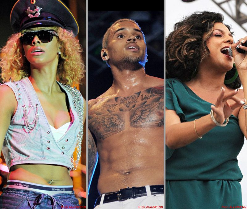 Pictures: Keri Hilson, Chris Brown and Marsha Ambrosius Rock Spring Fest