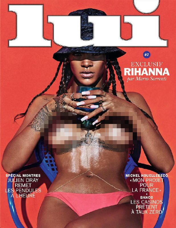 Rihanna Bares Her Breasts on Magazine Cover