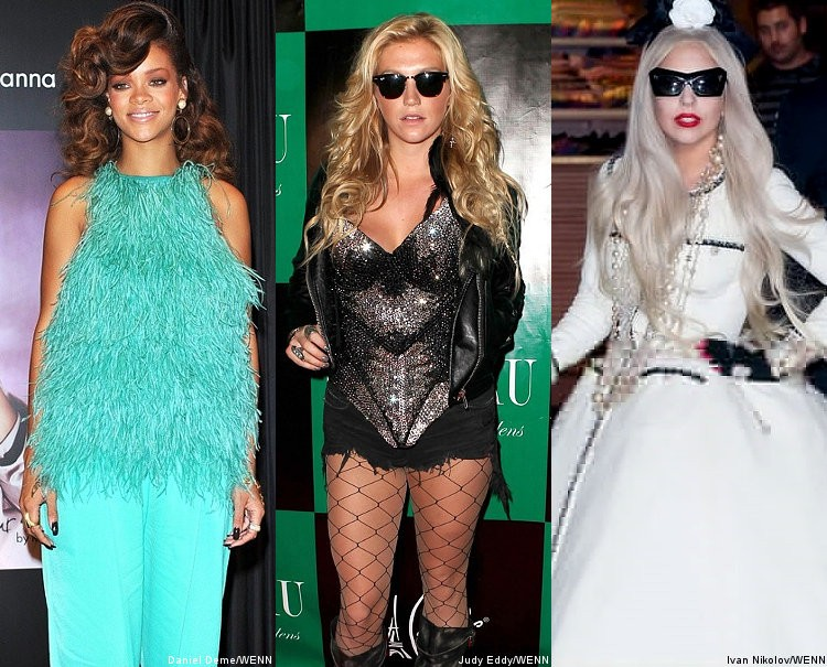 Report: Rihanna, Ke$ha and Lady GaGa Banned From Dance Category at Grammys