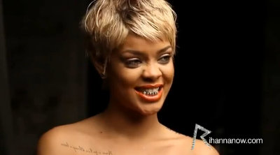 Rihanna Shows Off Her Flashy Grill at 'You Da One' Video Shoot