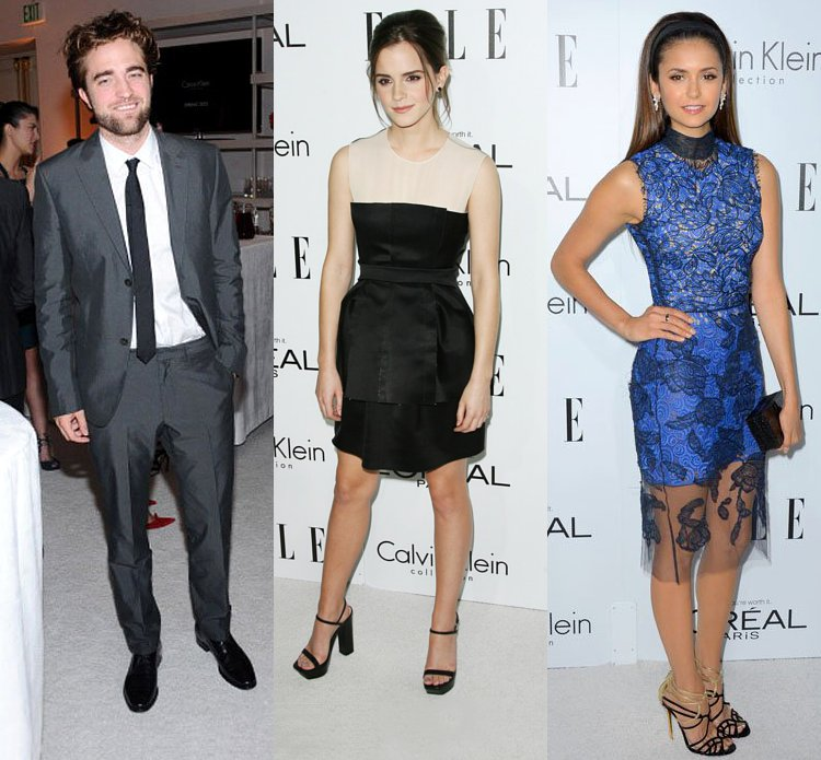 Robert Pattinson, Emma Watson, and Nina Dobrev Glam Up 2012 ELLE Women in Hollywood