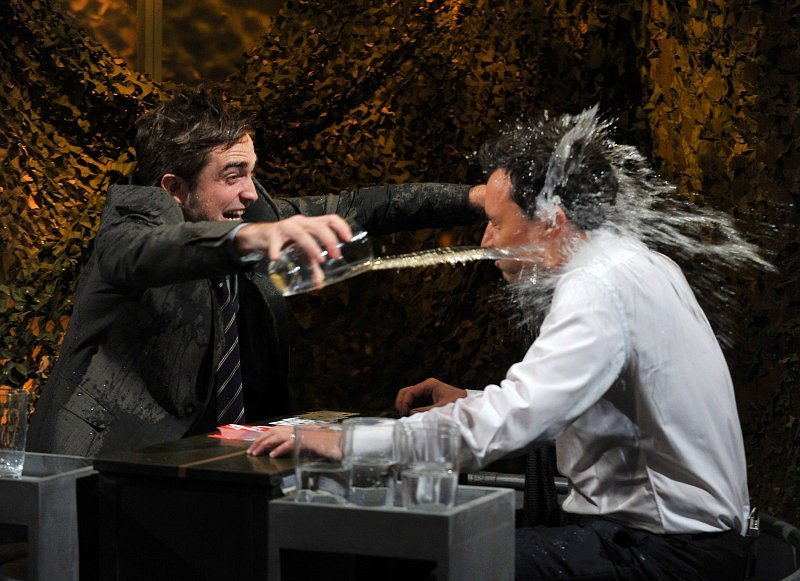 Video: Robert Pattinson Gets Wet in Water War With Jimmy Fallon