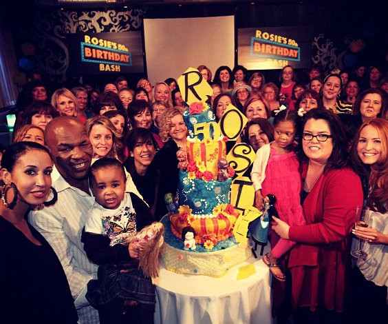 Rosie O'Donnell Gets Mike Tyson's Help in Celebrating 50th Birthday