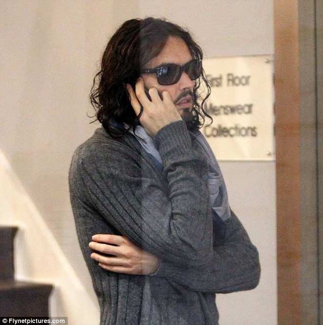 Russell Brand Out and About in London Without His Wedding Ring