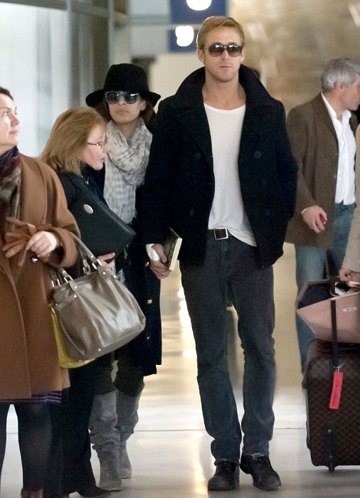 Ryan Gosling and Eva Mendes Continue to Flaunt PDA at Airport in Paris