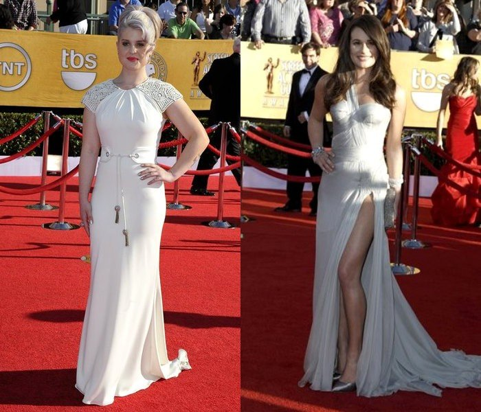 SAG Awards 2012: Kelly Osbourne Dazzles in White, Lea Michele Wows in Silver