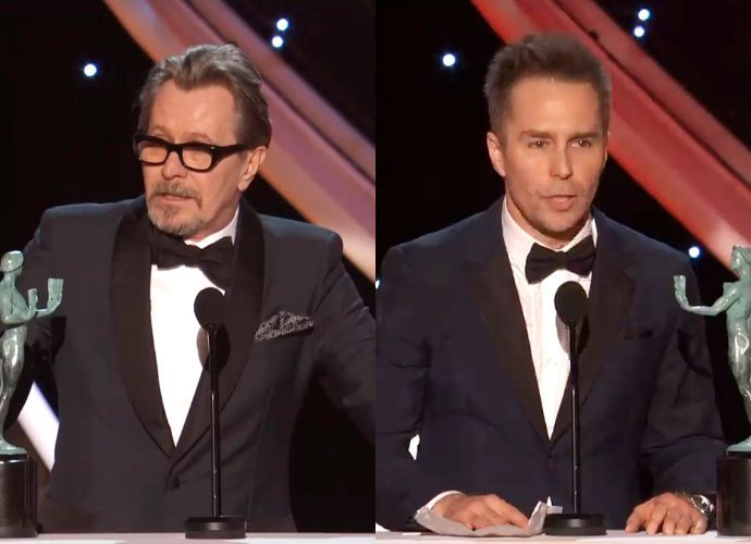 SAG Awards 2018: Gary Oldman Wins Best Actor in Leading Role, Sam Rockwell Is Best Supporting Actor