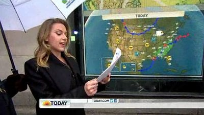Scarlett Johansson Reads the Weather on 'Today'