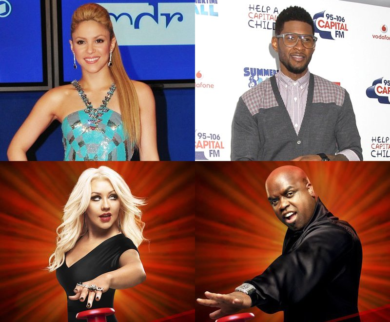 Official: Shakira and Usher Replace Christina and Cee-Lo in 'The Voice' Season 4
