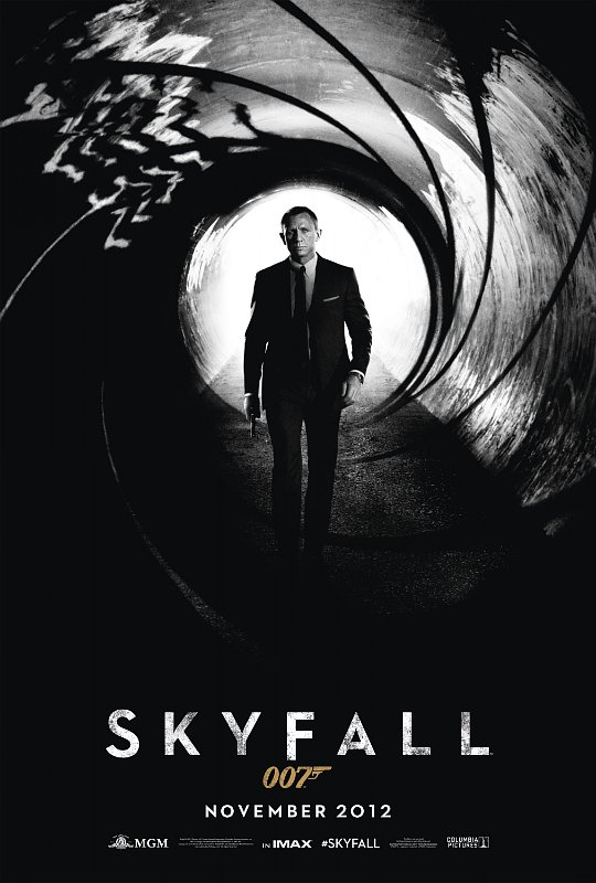 The black-and-white poster features tuxedo-clad Daniel Craig striking ...