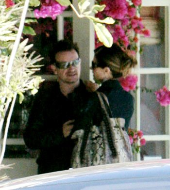 Smiling Maria Shriver Enjoys Lunch Date With Bono