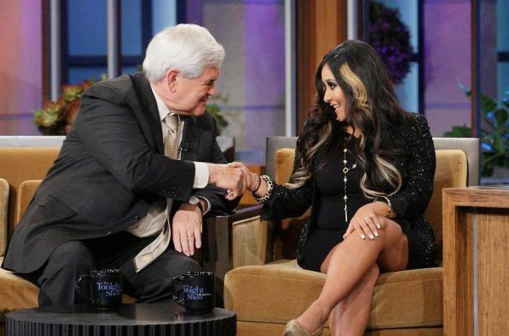 Snooki Calls Conservative Politician Newt Gingrich 'Cute and Nice'