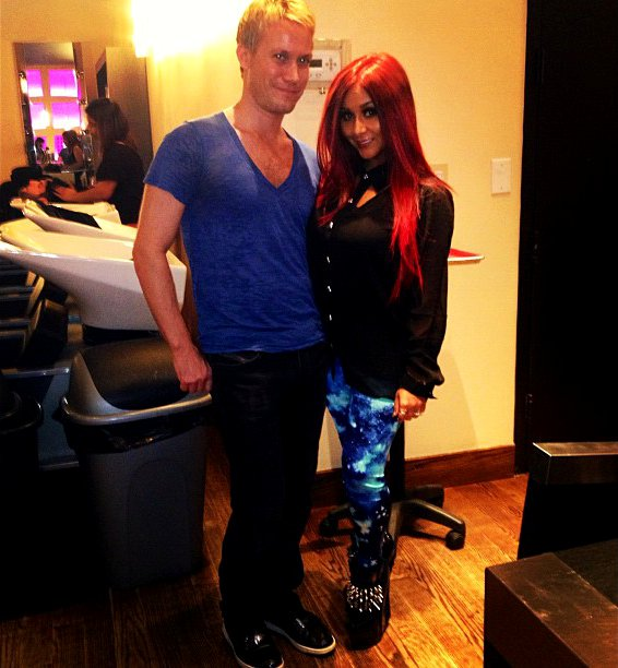 Snooki Shows Off Her New Fiery Hair Do