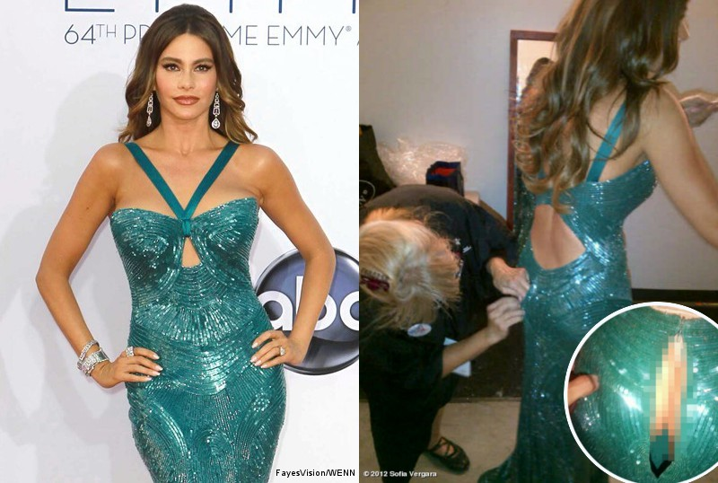 Sofia Vergara Shows Off Thong-Clad Derriere After Wardrobe Malfunction at Emmys