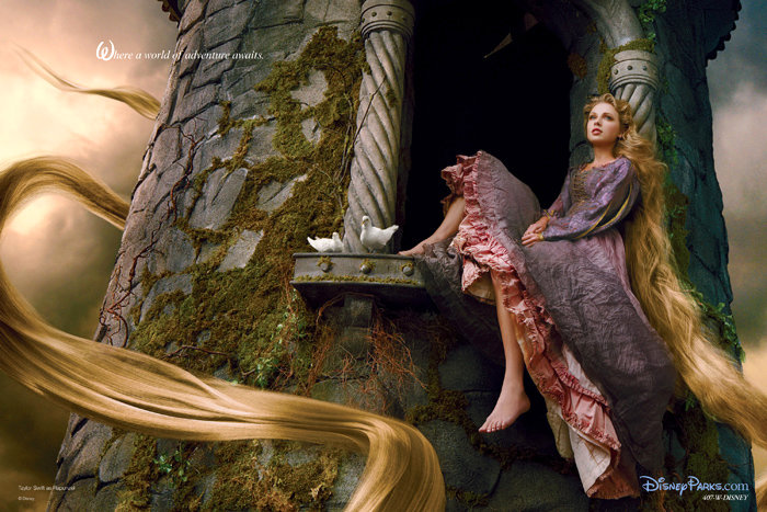 Taylor Swift Is Rapunzel in New Disney Portrait