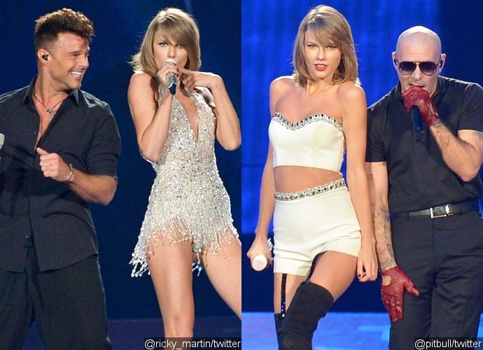 Video Taylor Swift Welcomes Ricky Martin Pitbull And Dwyane Wade At Miami Concert