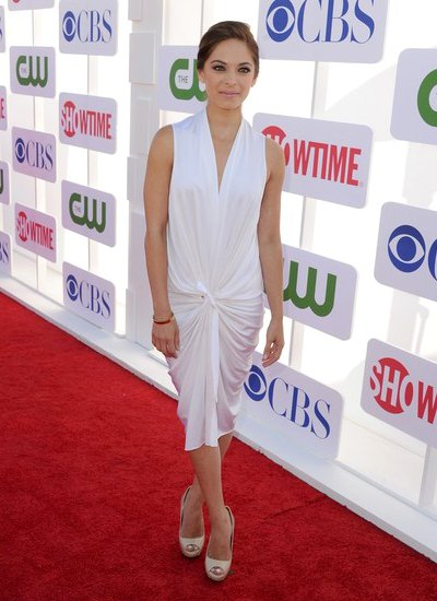 TCA Summer Party: Kristin Kreuk Looks Gorgeous in a White Midi Dress