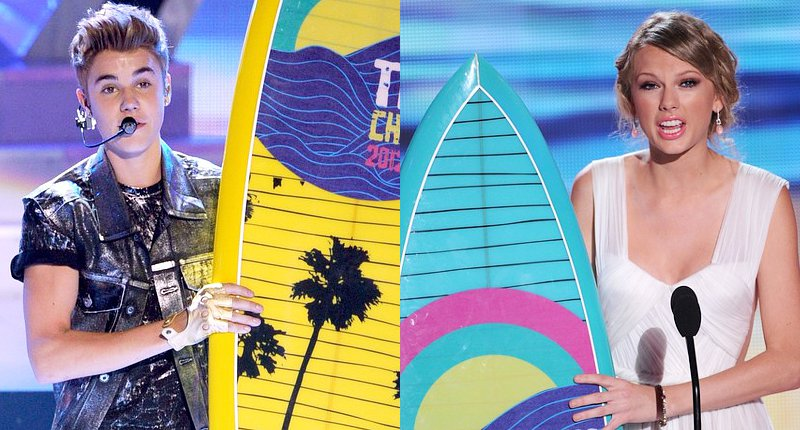 Teen Choice Awards 2012: Justin Bieber and Taylor Swift Win Big in Music