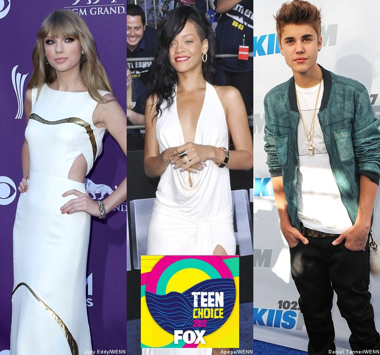 Teen Choice Awards 2012: Taylor Swift, Rihanna and Justin Bieber Lead Music Nominations