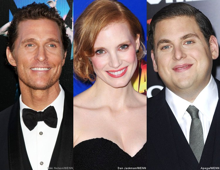 The Academy Invites Matthew McConaughey, Jessica Chastain and Jonah Hill as New Members