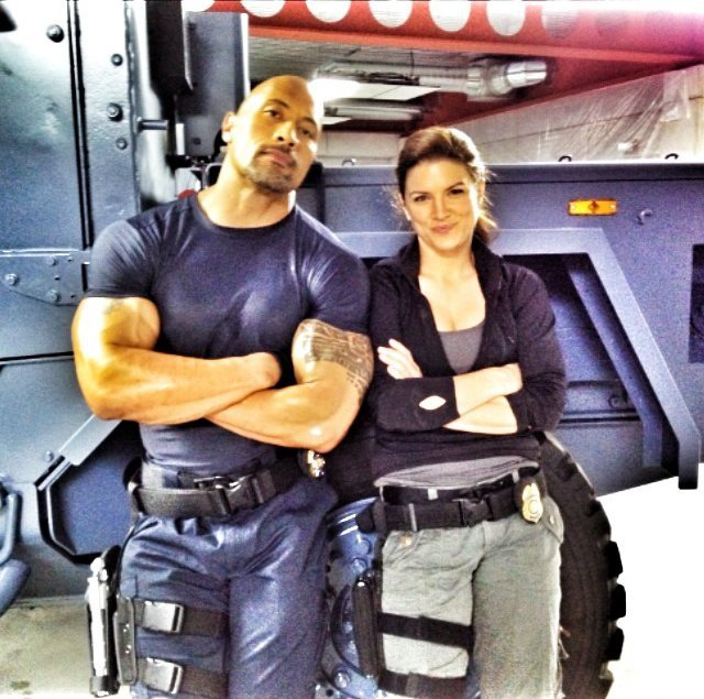 The Rock Unveils His and Gina Carano's First Look in 'Fast Six'