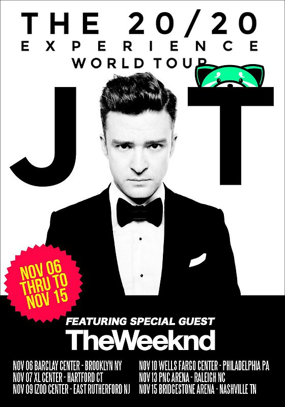 The Weeknd Joins Justin Timberlake on 'The 20/20 Experience' Tour