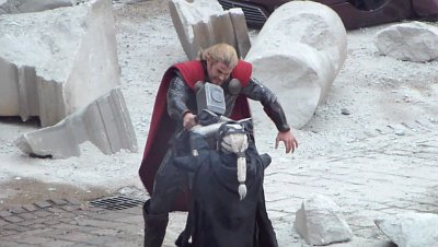 New 'Thor 2' Set Video Sees God of Thunder Fighting Malekith in City Ruins