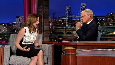 Tina Fey Shows Footage of Office Burglary on David Letterman's Show