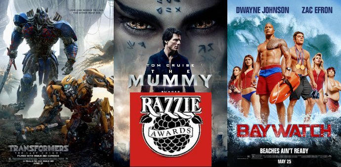 'Transformers: The Last Knight', 'The Mummy' and 'Baywatch' Among 2018 Razzie Awards Nominees